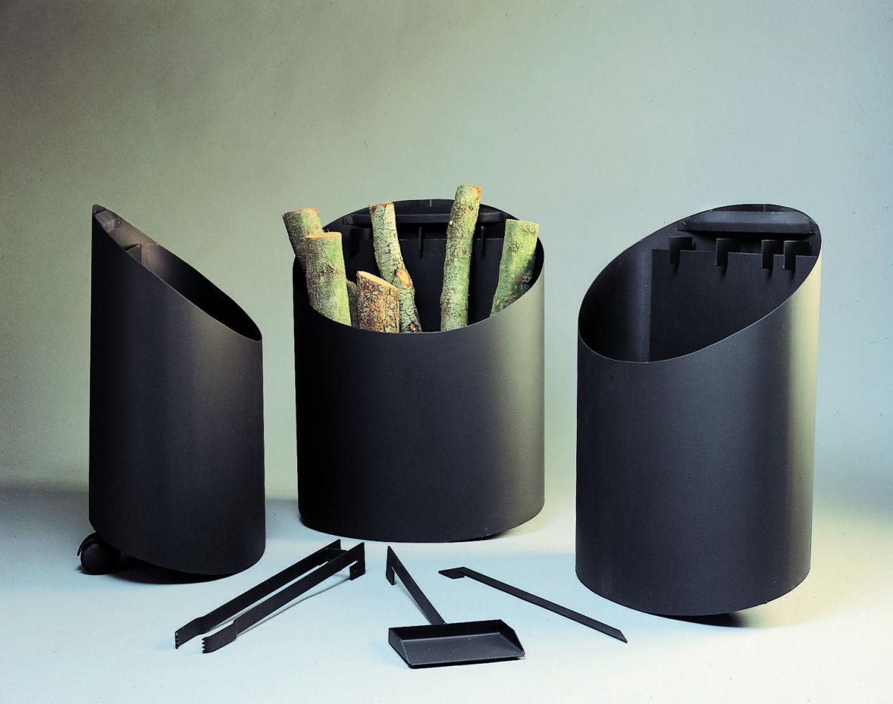 porte-bûches accessoires cheminées contemporaine