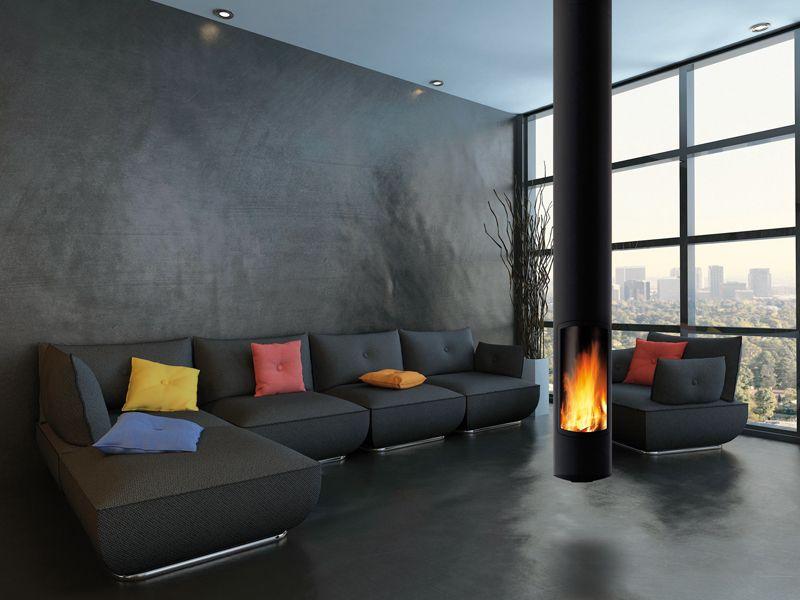 Cheminee Design Suspendu #3: Cheminée Design Centrale Slimfocus Italien