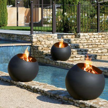 brasero focus creation feu exterieur terrasse piscine bubble