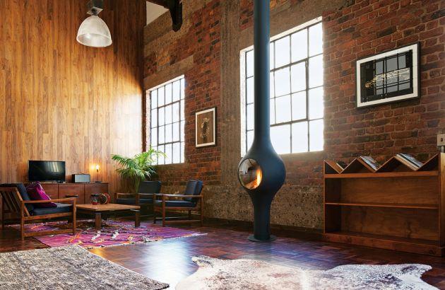 cheminée design centrale Boafocus gaz