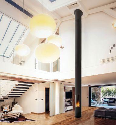 cheminée design contemporaine centrale Slimfocus gaz