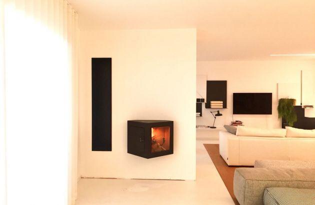 cheminée design contemporaine Cubifocus