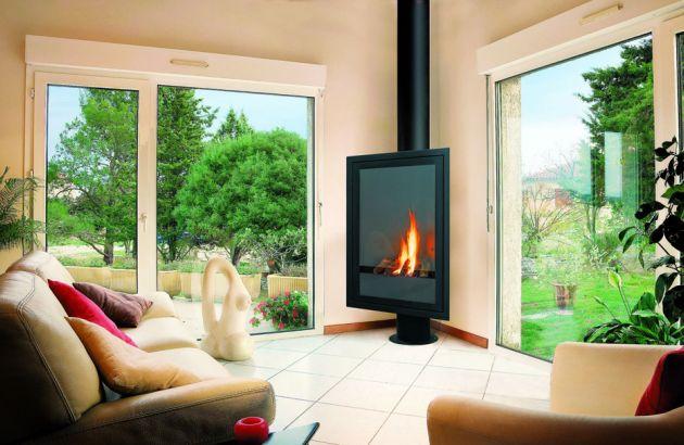 cheminée design Eurofocus gaz