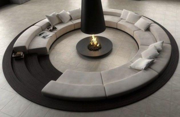 cheminée design centrale filiofocus telescopique