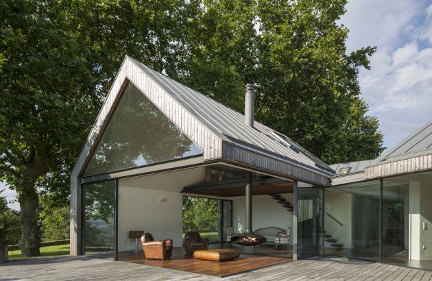 cheminée design suspendue Gyrofocus outdoor