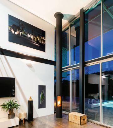 cheminée design contemporaine centrale Slimfocus