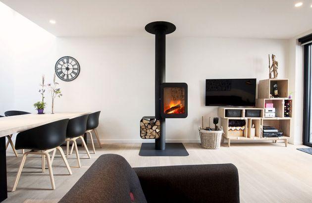 cheminée poele design Grappus