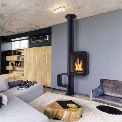 cheminée poele design Grappus gaz