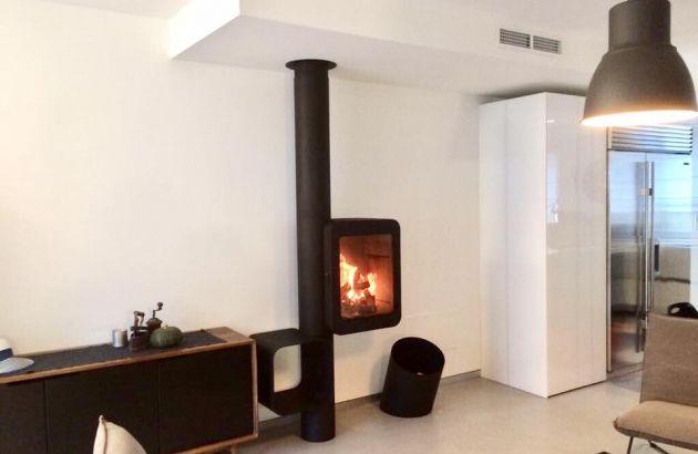 cheminée poele contemporain Grappus