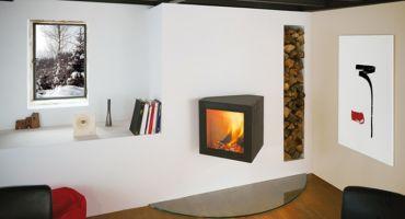 Cheminee design - Cubifocus, foyer à bois étanche