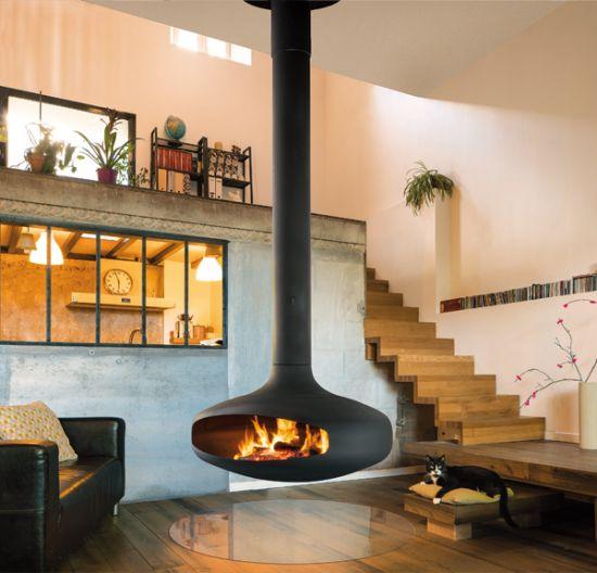 chemin es design foyer ouvert focus focus. Black Bedroom Furniture Sets. Home Design Ideas