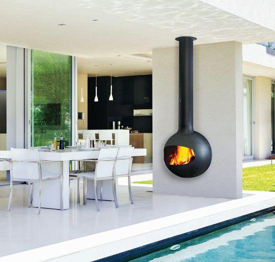 cheminée design pour l'extérieur Emifocus outdoor